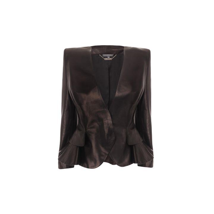 Alexander McQueen, Wing Peplum Leather Jacket