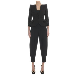 ALEXANDER MCQUEEN, Jacket, Cotton Wing Peplum Jacket