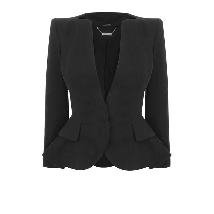 Alexander McQueen, Cotton Wing Peplum Jacket