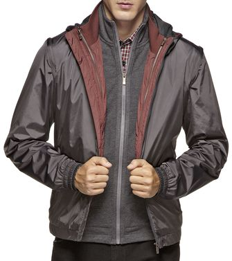 ZEGNA SPORT: Fabric Jacket Black - Dark brown - 41375029XQ