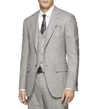 ERMENEGILDO ZEGNA: Formal Jacket Steel grey - 41375037GI