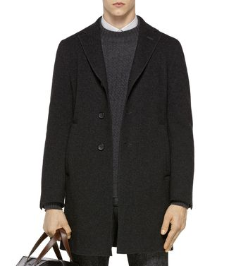 ZZEGNA: Manteau long Noir - 41375056SI