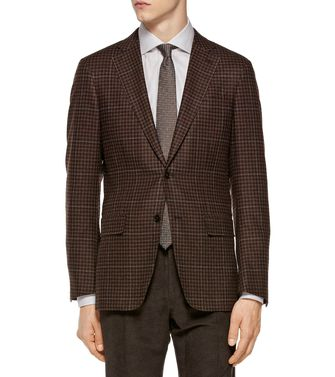 ERMENEGILDO ZEGNA: Formal Jacket Dark brown - 41375060BL