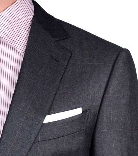 ERMENEGILDO ZEGNA: Suit Flannel Button, zip 2 buttons Dual back Steel grey, Detail 2 - 41375085OQ