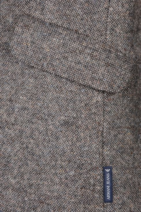 SINGLE-BREASTED TWEED CLASSIC JACKET: Two buttons jackets Women by Armani - 4