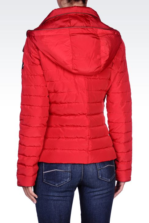 FULL ZIP HOODED DOWN JACKET: Down coats Women by Armani - 3
