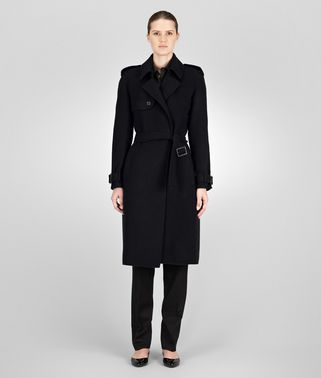 TRENCH IN NERO DOUBLE CASHMERE