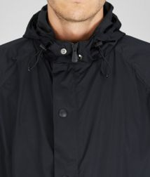 BOTTEGA VENETA - Coats and Jackets, Nero Soft Cloth Travel Hooded Blouson