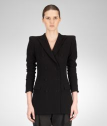 BOTTEGA VENETA - Coats and Jackets, Nero Crepe Japponaise Jacket