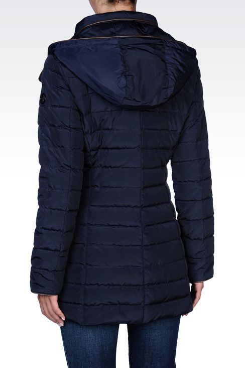 FULL ZIP HOODED DOWN COAT: Down coats Women by Armani - 3