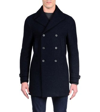 ZZEGNA: Manteau long Bleu - 41380421MC