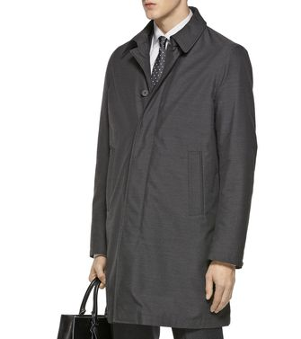 ZZEGNA: Manteau long Gris - 41380432EN