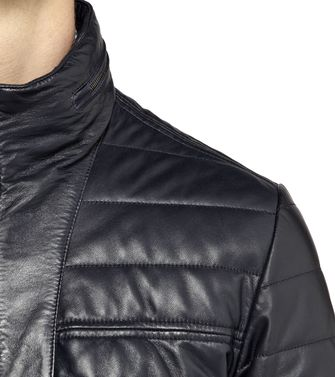 ZEGNA SPORT: Leather outerwear Black - 41380572CE