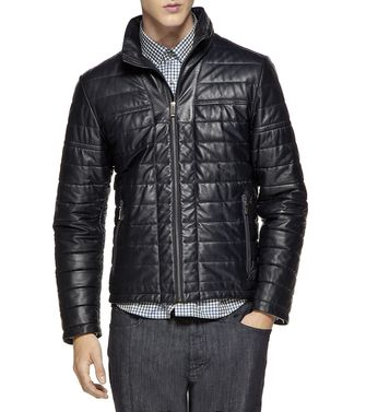 ZEGNA SPORT: Leather outerwear Blue - 41380572CE