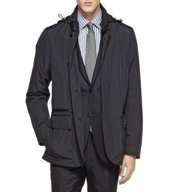 ERMENEGILDO ZEGNA: Fabric Jacket Steel grey - 41380573MQ