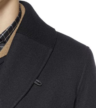 ERMENEGILDO ZEGNA: Manteau long Brique - Moka - 41380574RC