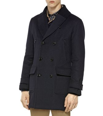 ERMENEGILDO ZEGNA: Coat Black - Red - Blue - 41380574RC