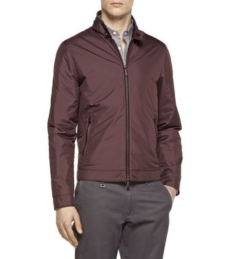 ERMENEGILDO ZEGNA: Fabric Jacket Brick red - Dark brown - 41380893SR