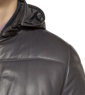 ERMENEGILDO ZEGNA: Leather outerwear Dark brown - 41380896QG