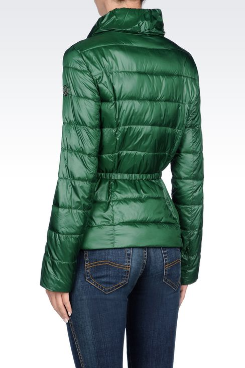 DOWN JACKET IN TECHNICAL FABRIC WITH BELTED WAIST: Bomber jackets Women by Armani - 4