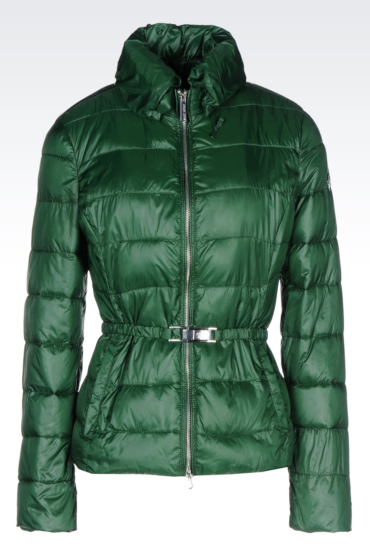 DOWN JACKET IN TECHNICAL FABRIC WITH BELTED WAIST: Bomber jackets Women by Armani - 0