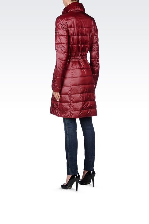 DOWN JACKET IN TECHNICAL FABRIC WITH BELTED WAIST: Dust jackets Women by Armani - 4