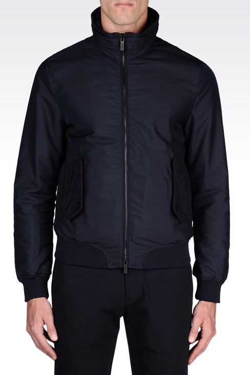 Armani Collezioni Men WATER REPELLENT TECHNICAL FABRIC BOMBER ...