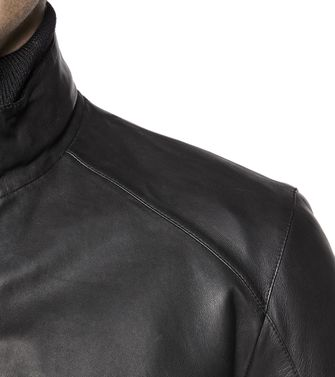 ZEGNA SPORT: Leather outerwear Steel grey - 41382330LT