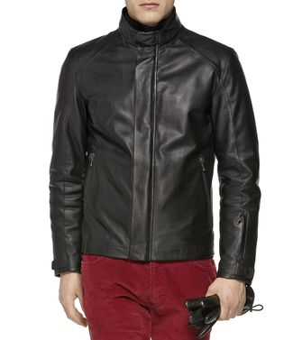 ZEGNA SPORT: Leather outerwear Blue - 41382330LT