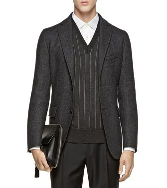 ERMENEGILDO ZEGNA: Casual Jacket Dark grey - 41382532DS