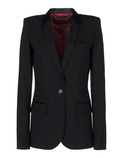Wool-blend masculine jacket