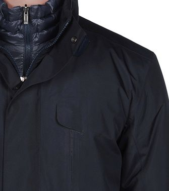 ZEGNA SPORT: Fabric Jacket Dark blue - 41382951BB