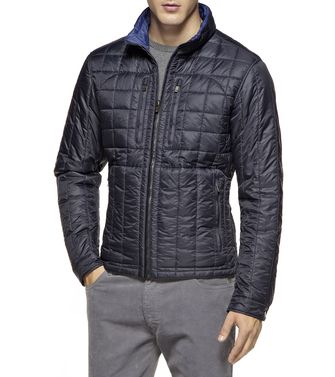 ZEGNA SPORT: Fabric Jacket Dark blue - 41382952CJ