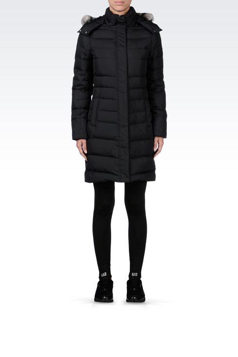OUTERWEAR: Down coats Women by Armani - 1