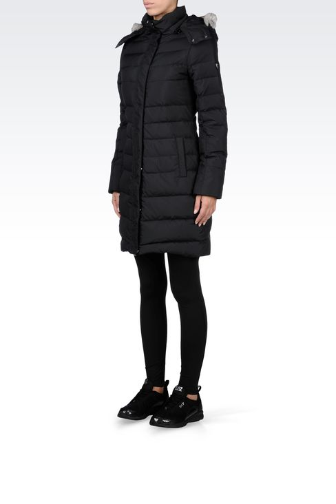 OUTERWEAR: Down coats Women by Armani - 2