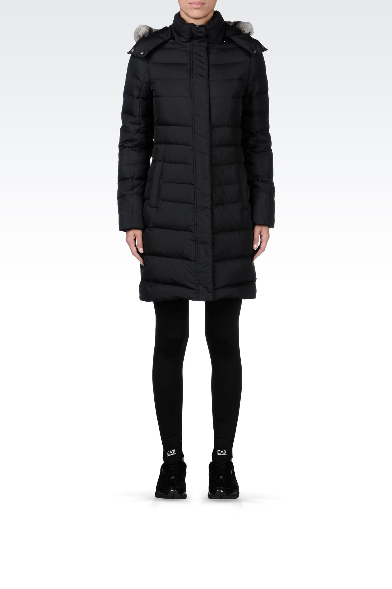 OUTERWEAR: Down coats Women by Armani - 0