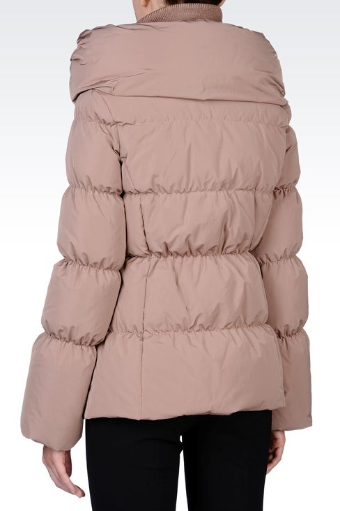 SHORT DOWN JACKET WITH COWL NECK: Down coats Women by Armani - 3