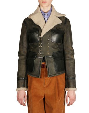 DSQUARED2 Leather outerwear D S75AM0312SX7948 f