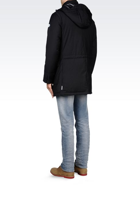 PADDED JACKET WITH DETACHABLE HOOD: Down coats Men by Armani - 3