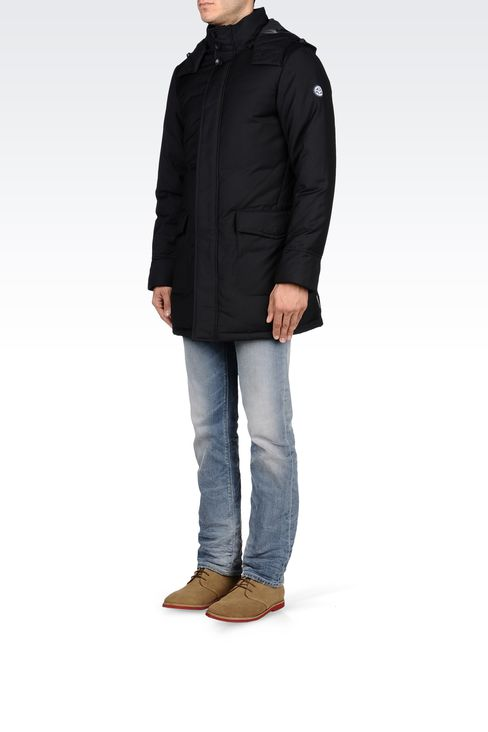 PADDED JACKET WITH DETACHABLE HOOD: Down coats Men by Armani - 2