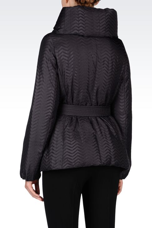 CHEVRON DOWN JACKET: Dust jackets Women by Armani - 3