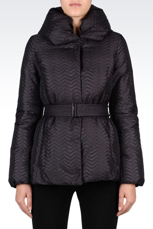 CHEVRON DOWN JACKET: Dust jackets Women by Armani - 2