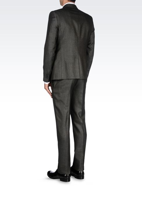 COOL WOOL SUIT IN WOOL SILK CASHMERE BLEND: Two buttons suits Men by Armani - 3