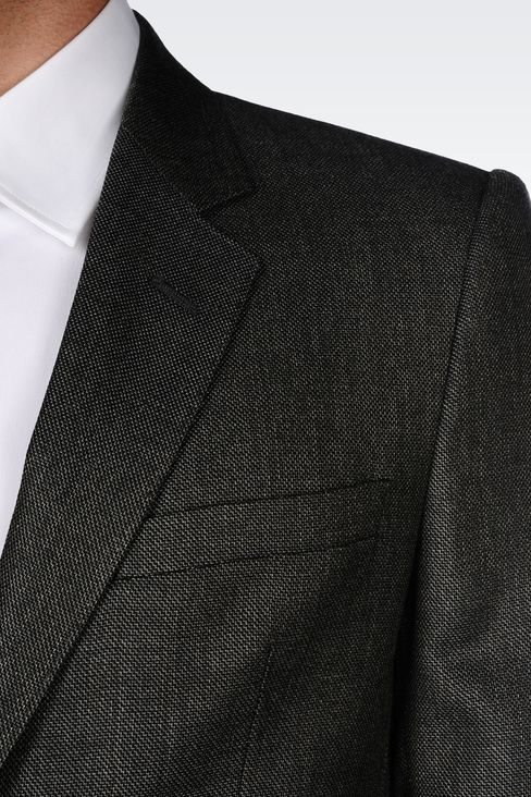COOL WOOL SUIT IN WOOL SILK CASHMERE BLEND: Two buttons suits Men by Armani - 4
