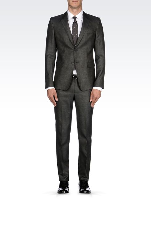 COOL WOOL SUIT IN WOOL SILK CASHMERE BLEND: Two buttons suits Men by Armani - 1