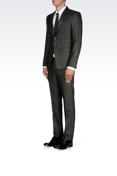 Emporio Armani Men COOL WOOL SUIT IN WOOL SILK CASHMERE BLEND