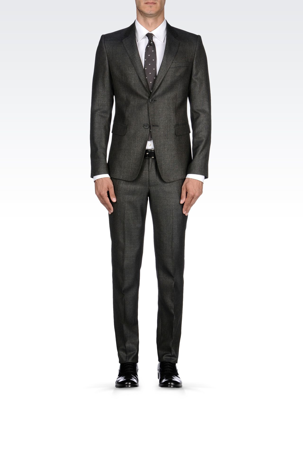 COOL WOOL SUIT IN WOOL SILK CASHMERE BLEND: Two buttons suits Men by Armani - 0