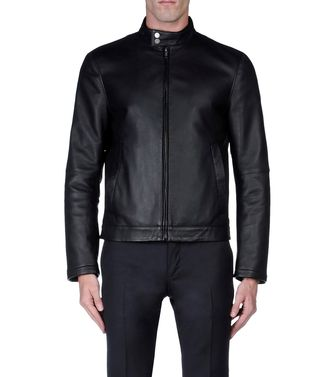 ZZEGNA: Leather outerwear Black - 41387021DH