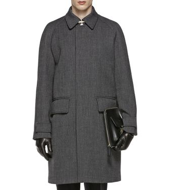 ERMENEGILDO ZEGNA: Coat Black - Dark brown - 41387022VI