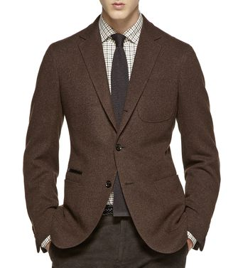 ERMENEGILDO ZEGNA: Casual Jacket Dark brown - 41387246LL